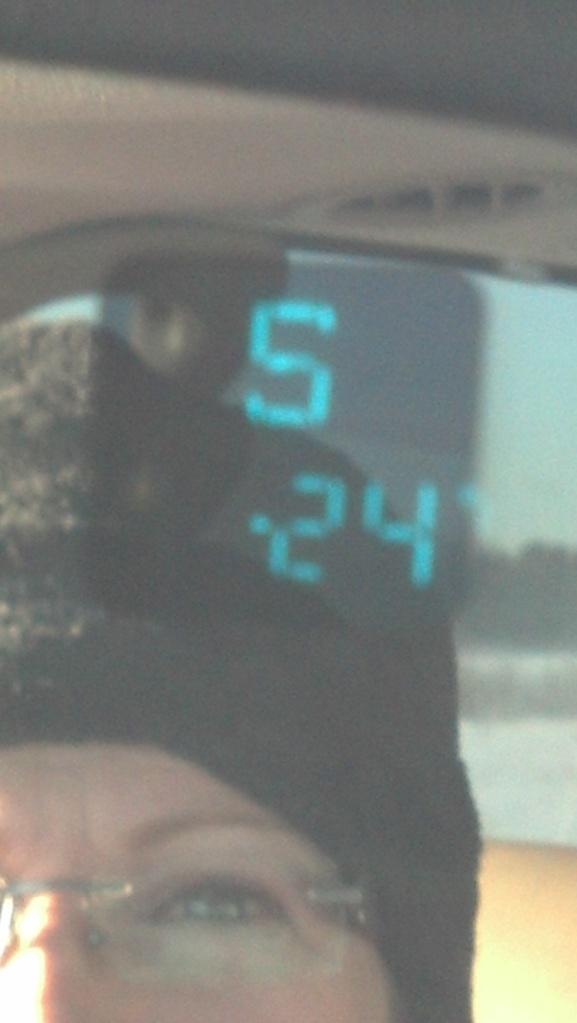 Yep! That's MINUS 24 Fahrenheit! (-31 Celsius)