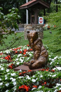 Adorable Bear & Butterfly Statue