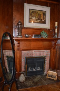 Bathroom FIreplace Library Suite Andon Reid Bed & Breakfast Inn
