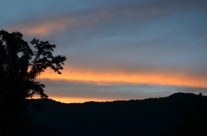 The Sky Blazes Over Eagle's Nest Mountain From Andon Reid Bed & Breakfast Inn