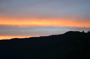 Night Begins to Fall On Eagle's Nest Mountain From Andon Reid Bed & Breakfast Inn