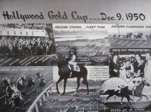 "Noor's 1950 Hollywood Gold Cup (photos from ""Noor: In Memory of a Champion"" Facebook Page"
