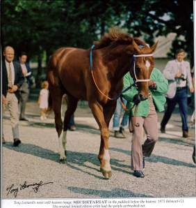 Tony Leonard's Iconic Photo of Secretariat at the Belmont