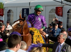 California Chrome in Preakness Winners' Circle