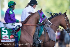 Perfect Drift Ponying California Chrome at the Kentucky Derby