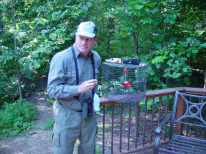 "Allen with Hummingbird ""Trap"""