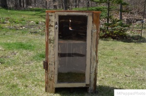 Nifty Corner Cabinet (from found/discarded materials)