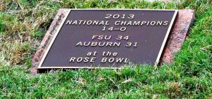 Sod Cemetery Plaque Commemorating our 2013 Championship (Photo Credit to Julie Bauman)