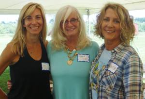 Lisa and Kathy from the Miracle Network flank Maz (one of the leading contributors)